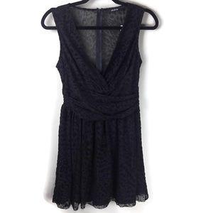 NWT Ark & Co Leopard Print Sheer Surplice Dress